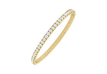 Diamond Eternity Bangle : 18K Yellow Gold - 2.00 CT Diamonds