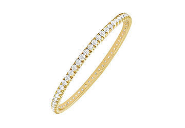 Diamond Eternity Bangle : 18K Yellow Gold - 3.00 CT Diamonds