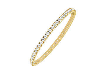 Diamond Eternity Bangle : 18K Yellow Gold - 5.00 CT Diamonds