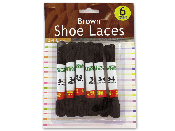 Brown Shoe Laces ( Case of 12 )