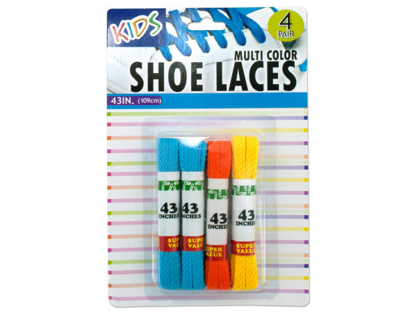 Kids Colored Shoelaces ( Case of 48 )