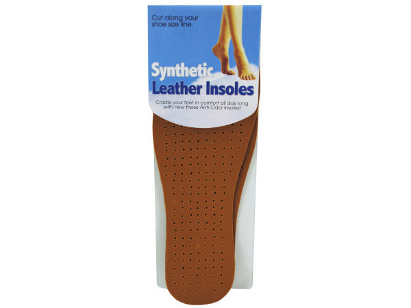 Synthetic Leather Insoles ( Case of 12 )