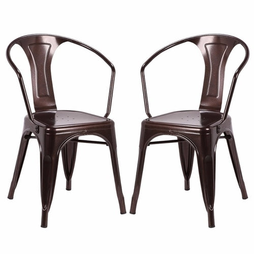 Set of 2 Vintage Style Home Arm Chair