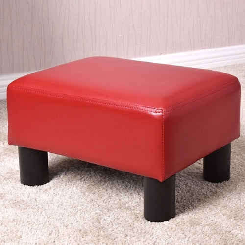Small Ottoman Footrest PU Leather Footstool