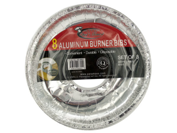 Disposable Aluminum Burner Bibs Set ( Case of 24 )