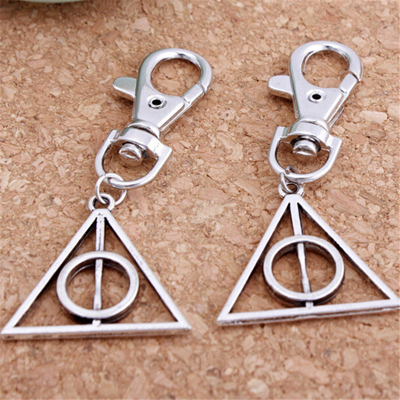 Harri Potter 6PCS Cosplay Keychain the Deathly Hallows Luna Lovegood Magic World Gift Action Figure Cosplay Toys
