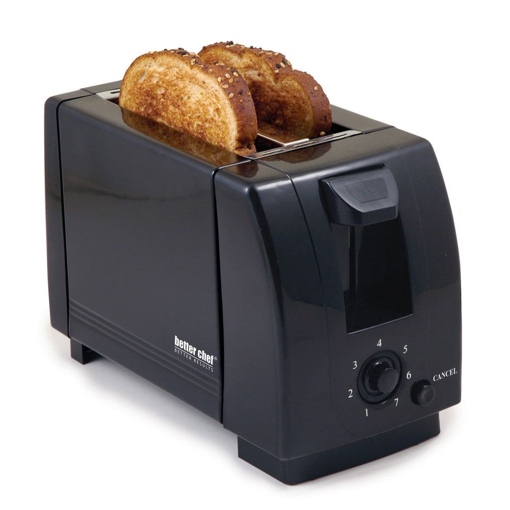 Better Chef 2-Slice Black Toaster