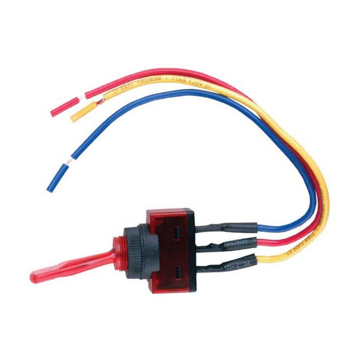 "Nippon illuminated toggle switch with 6"" lead wire red"