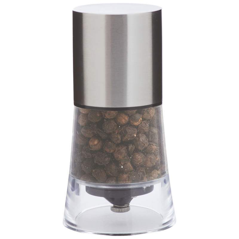 Stainless Steel & Acrylic Pepper Mill