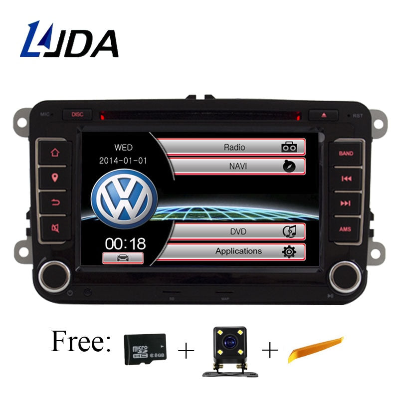 LJDA 2 Din 7 Inch Car DVD Player for VW Golf/6 Golf 5 Passat b7/cc/b6/SEAT leon/Tiguan/Skoda Octavia Multimedia GPS Radio Canbus