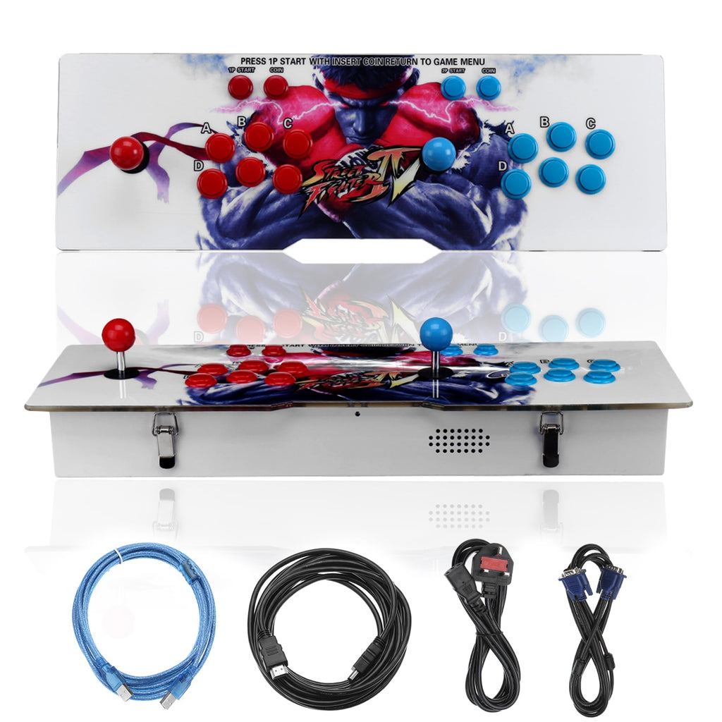 Metal Box 4s Double Stick Arcade Game Console Machine TV Jamma - 680 Video Coin Operated Games Double Stick