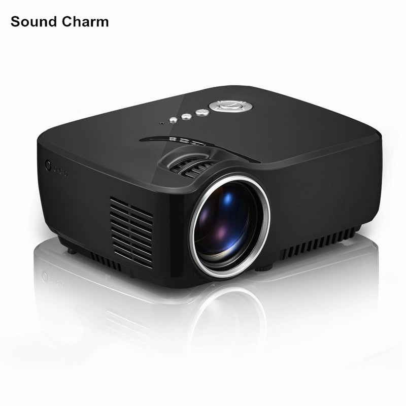 New GP70 HD mini projecotr  USB Video Game support 1080P Home Theater LCD HDMI lcd  LED Projector Beamer free shipping