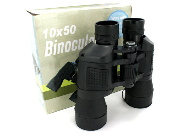 Binoculars with Compass and Pouch ( Case of 1 )
