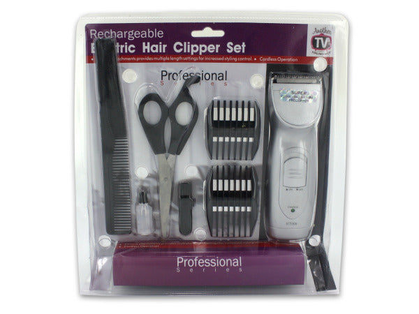 Rechargeable Hair Clipper Set with Accessories ( Case of 1 )