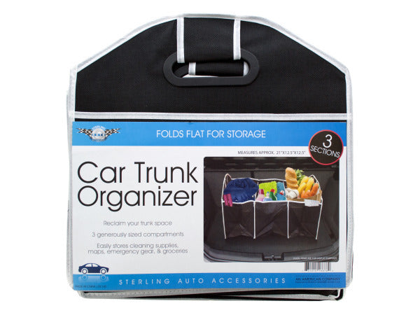 Three Section Auto Trunk Organizer ( Case of 8 )