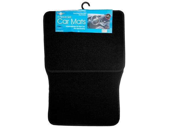 Universal Black Car Mat Set ( Case of 4 )