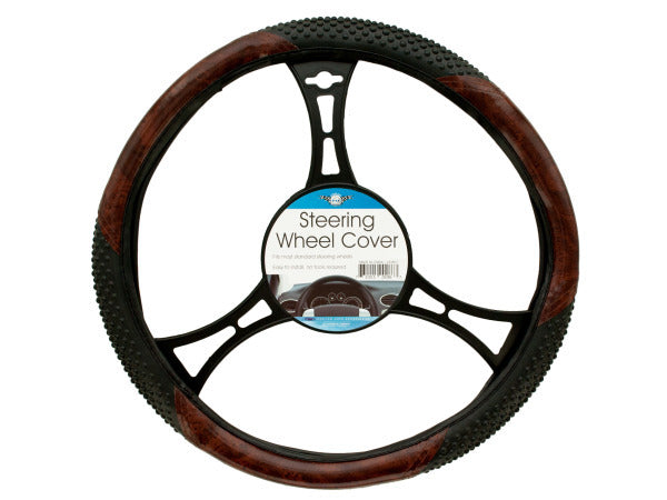Textured Two-Tone Steering Wheel Cover ( Case of 6 )