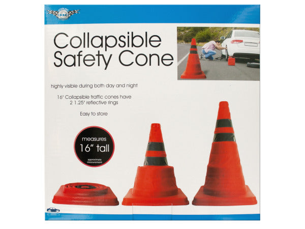 Collapsible Traffic Safety Cone with Reflective Rings ( Case of 1 )