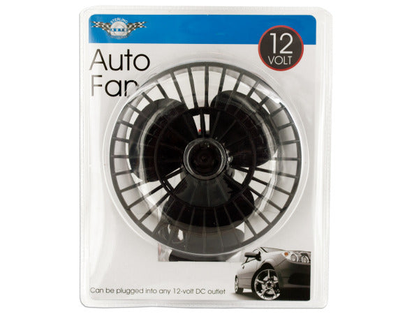 12 Volt Auto Fan with Suction Cup ( Case of 1 )