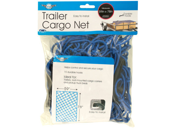 Trailer Cargo Net with Hooks ( Case of 3 )