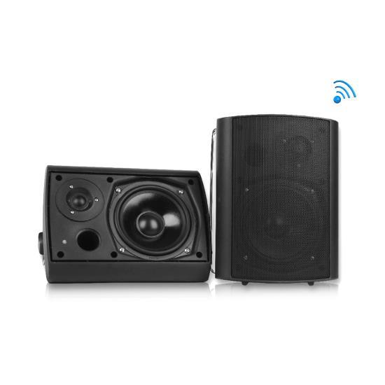 Wall Mount Waterproof & Bluetooth 5.25'' Indoor / Outdoor Speaker System, Black