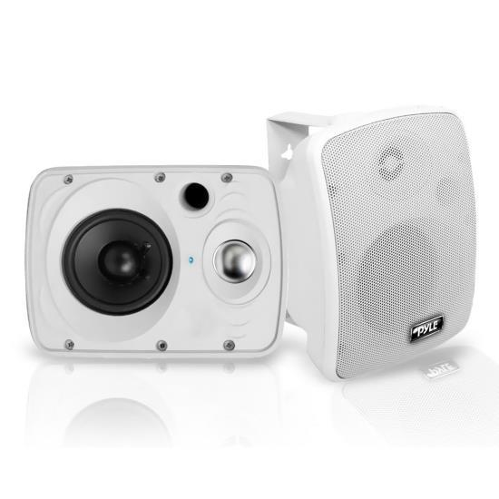 Waterproof & Bluetooth 6.5'' Indoor / Outdoor Speaker System, 800 Watt, White