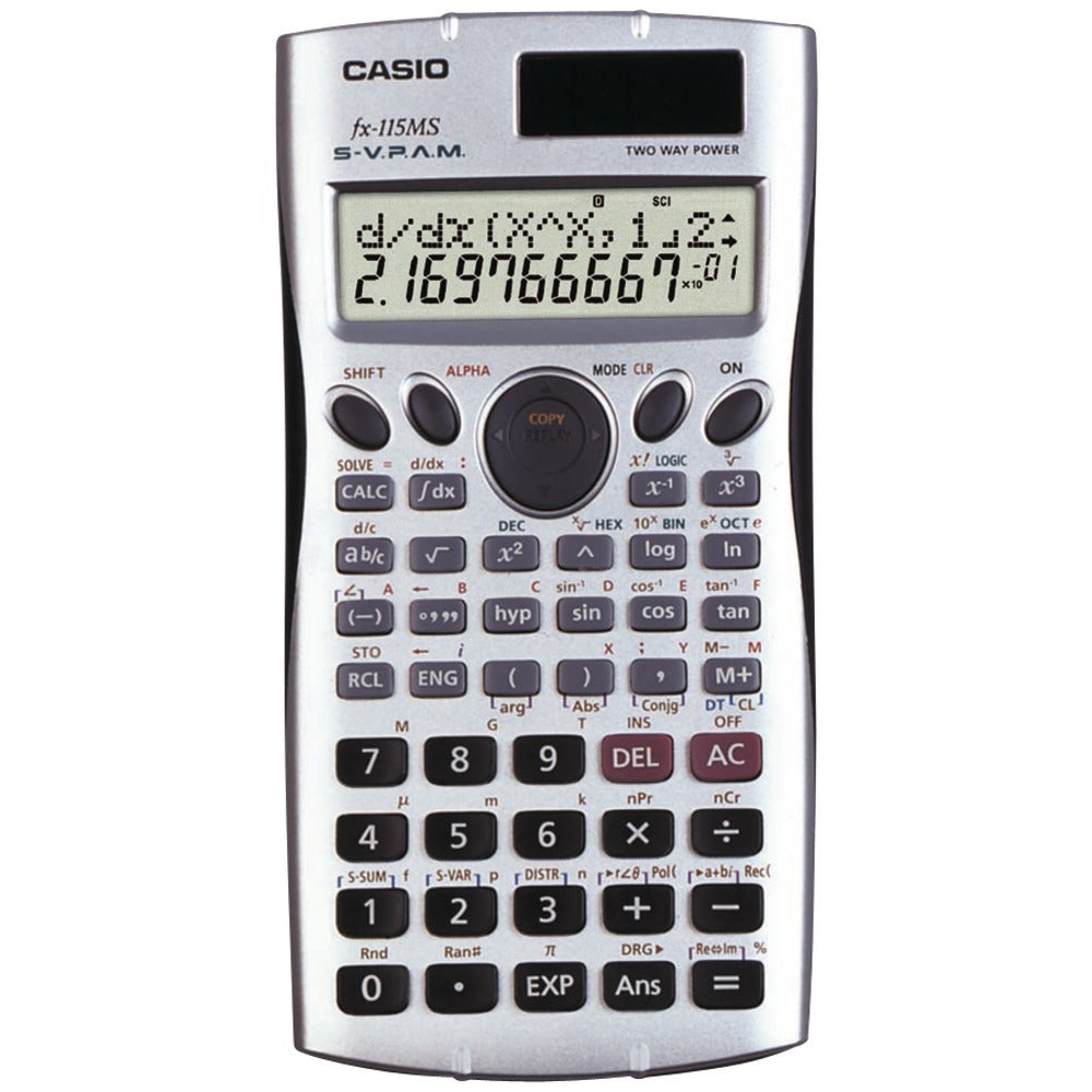 CASIO(R) FX115-MS Scientific Calculator with 300 Built-in Functions