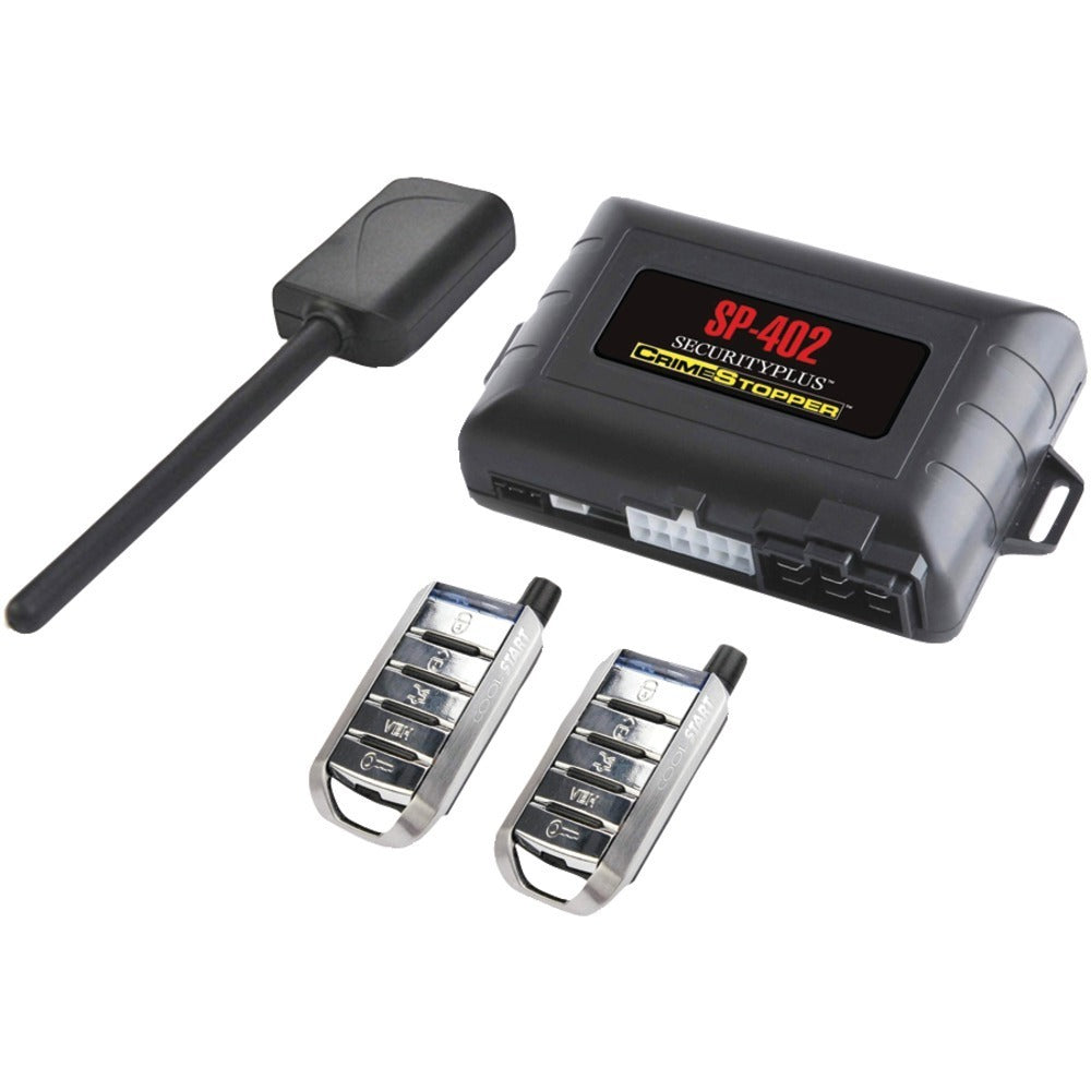 CrimeStopper(TM) SP-402 Universal 1-Way Security & Remote-Start Combo