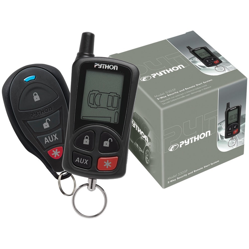 Python(R) 5305P 5305P 2-Way LCD Security & Remote-Start System with .25-Mile Range & 2 Remotes