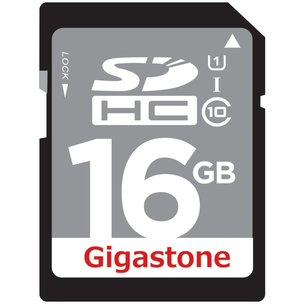 Gigastone(R) GS-SDHCU116G-R Class 10 UHS-1 Card (SDHC(TM); 16GB)
