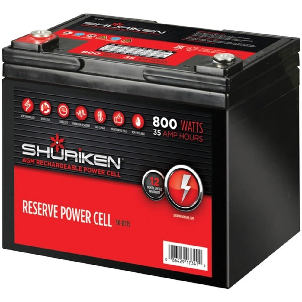 Shuriken(R) SK-BT35 Reserve Power Cell AGM 12-Volt Starting Battery (800 Watts, 35Ah)