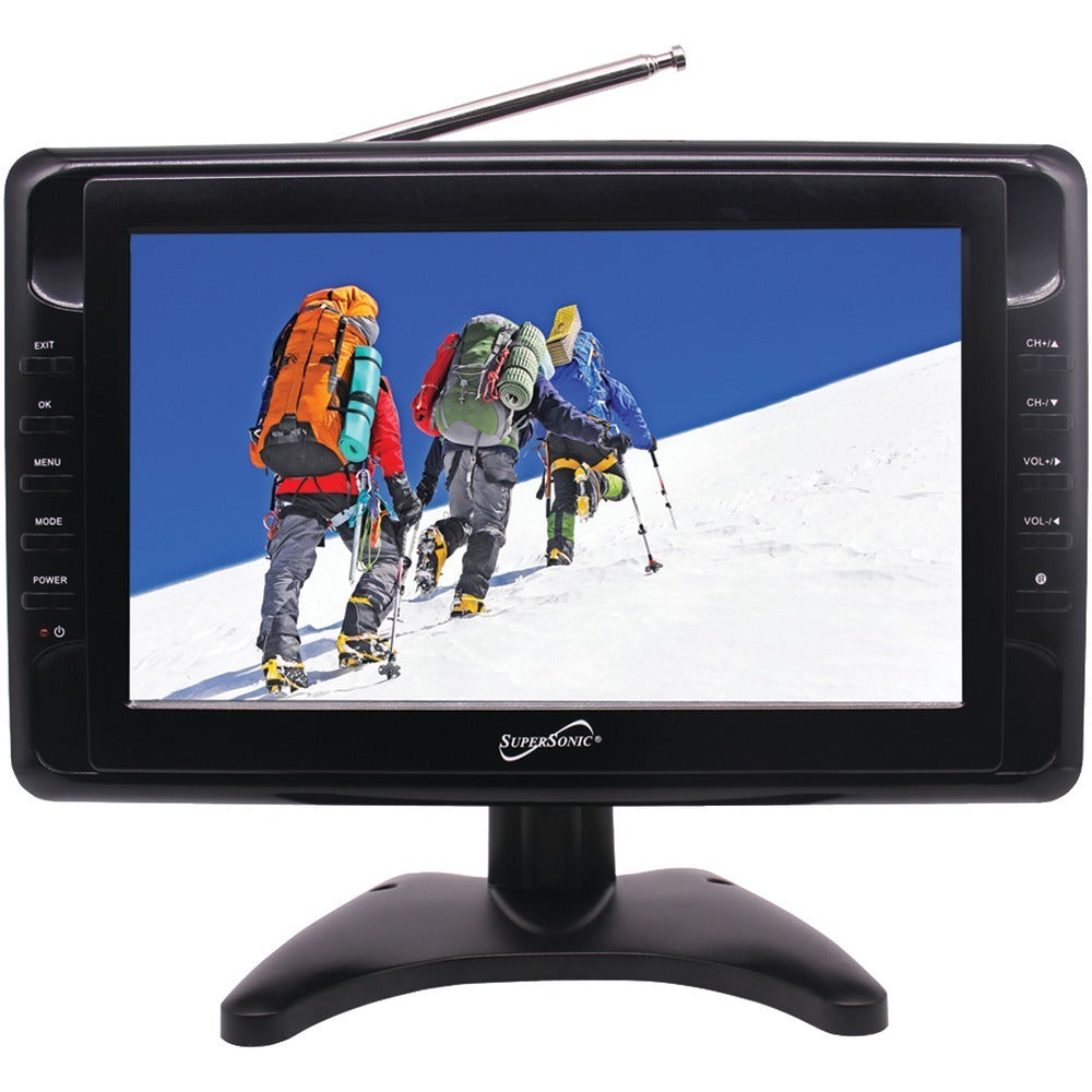 Supersonic(R) SC-2810 10 Portable LCD TV, AC/DC Compatible with RV/Boat