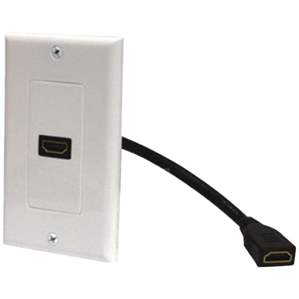 Steren(R) 526-101WH HDMI(R) Wall Plate & Pigtail