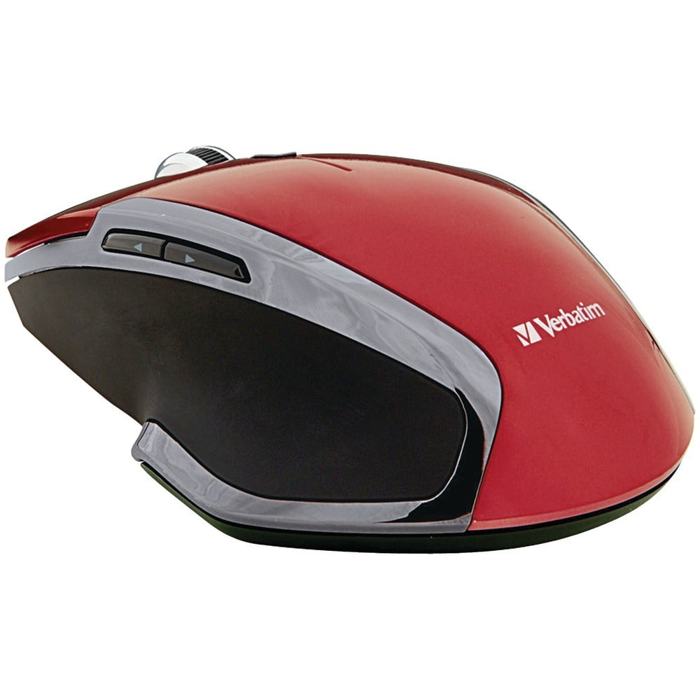 Verbatim(R) 99018 Wireless Notebook 6-Button Deluxe Blue LED Mouse (Red)