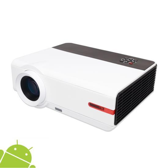 Android HD Home Theater Smart Projector, Wi-Fi Web Browsing, App Download, Up to 160'' Display, 1080p Support (Mac & PC Compatible)