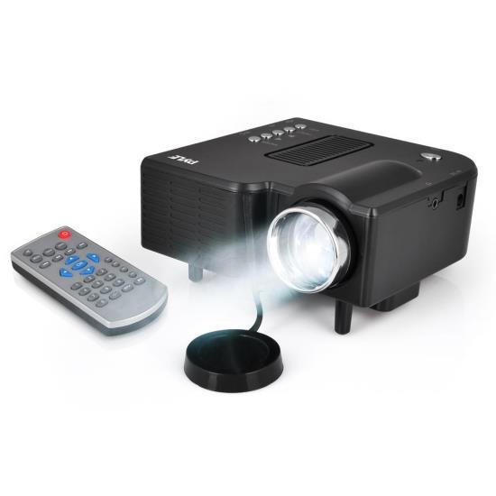 Mini Compact Pocket Projector, 1080p Support, USB/SD Card Readers, HDMI & VGA Inputs, Upside-Down Mountable