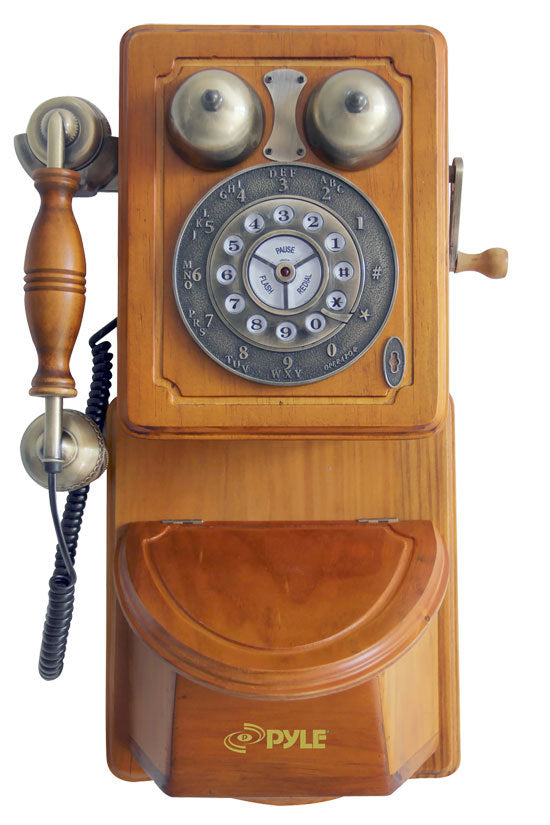 Retro Themed Coutry-Style Retro Antique Wall-Mount Phone