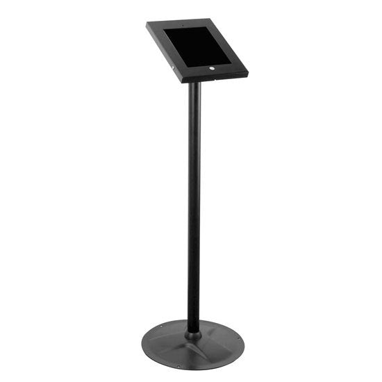Tamper-Proof Anti-Theft iPad Kiosk Safe Security Public Floor Stand, Holder, Public Display Case with Cable Management (Compatible with iPads 2/3/4/Air)