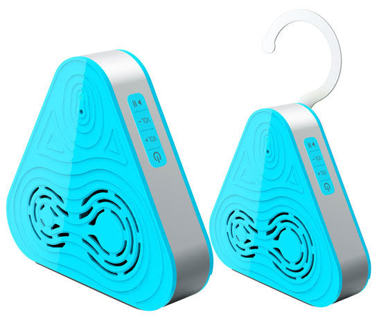Tri-Way Clear Sound Bluetooth Wireless Waterproof Shower Speaker & Hands Free Speaker-phone W/ AUX IN (Blue Color)