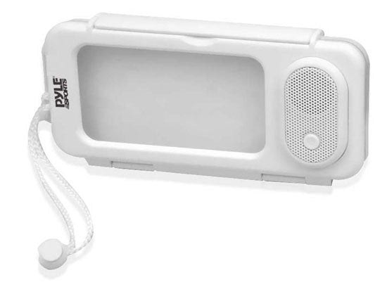 Surf Sound Play Universal Waterproof iPod, iPhone4 & iPhone5 MP3 Player & Smartphone Portable Speaker & Case (Color White)