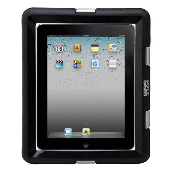 Universal Waterproof iPad Marine Grade Case with Headphone Jack  Compatible with Other Tablet PCs and eReaders (Black)