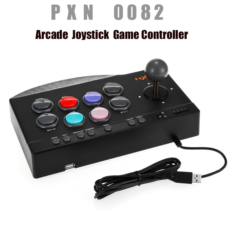 PXN - 0082 Arcade Joystick Game Controller USB Wire Arcade Joystick Gaming Handle Controller for PC PS3 PS4 Xbox one