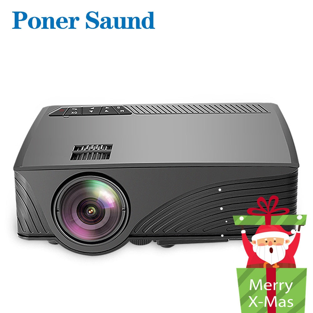 Poner Saund LCD GP12 LED Mini Projector for Home Theater Support Full HD 1080P HDMI USB SD & 3.5mm Earphone LED Video Proyector