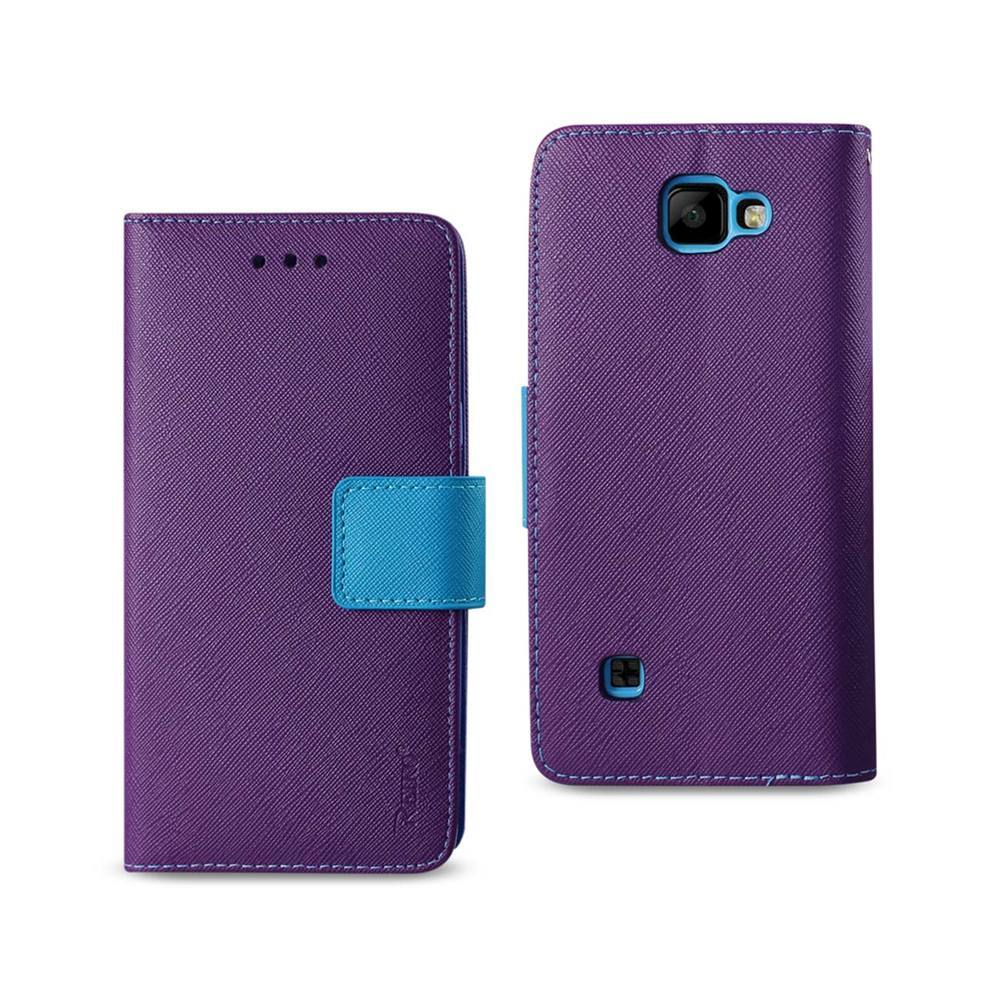 REIKO LG K3 3-IN-1 WALLET CASE IN PURPLE