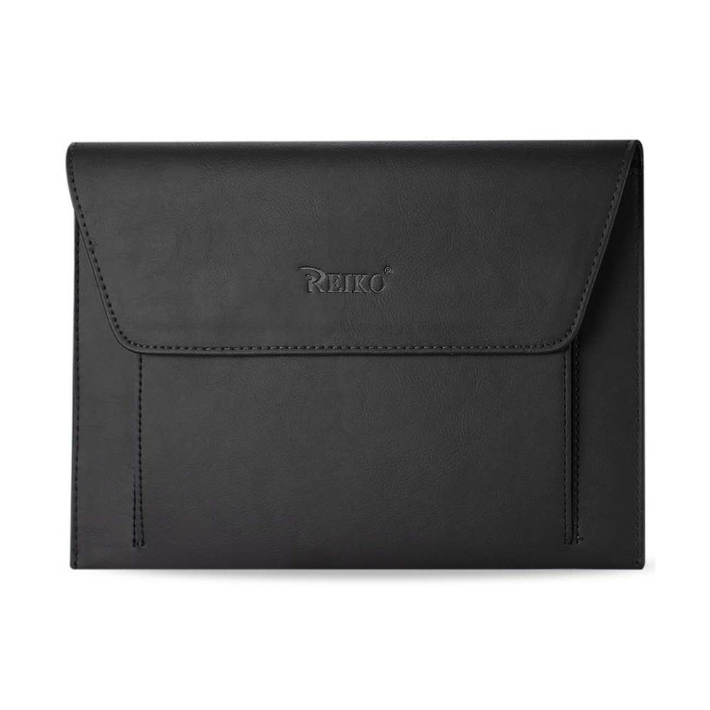 REIKO PREMIUM LEATHER CASE POUCH FOR 10.1INCHES IPADS AND TABLETSBLACK