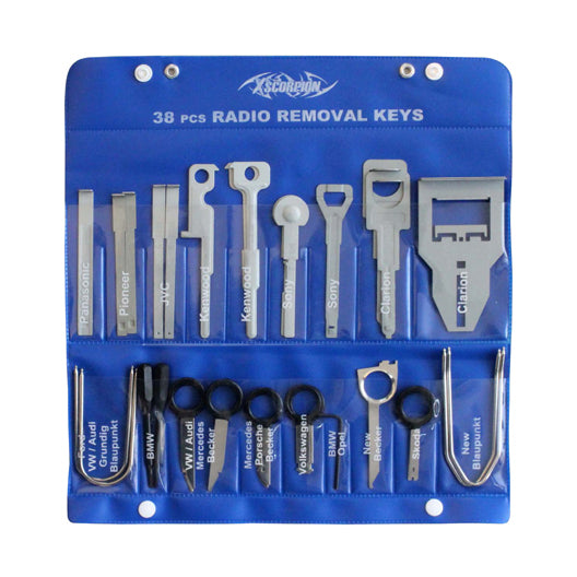 Xscorpion Radio Removal Keys 38pc Kit