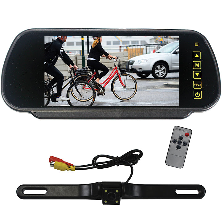 "Tview 7"" Rear view monitor with backup camera remote"