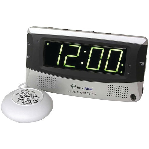 Sonic Alert(R) SBD375ss Sonic Bomb(R) Dual Alarm Clock with Super Shaker(TM)
