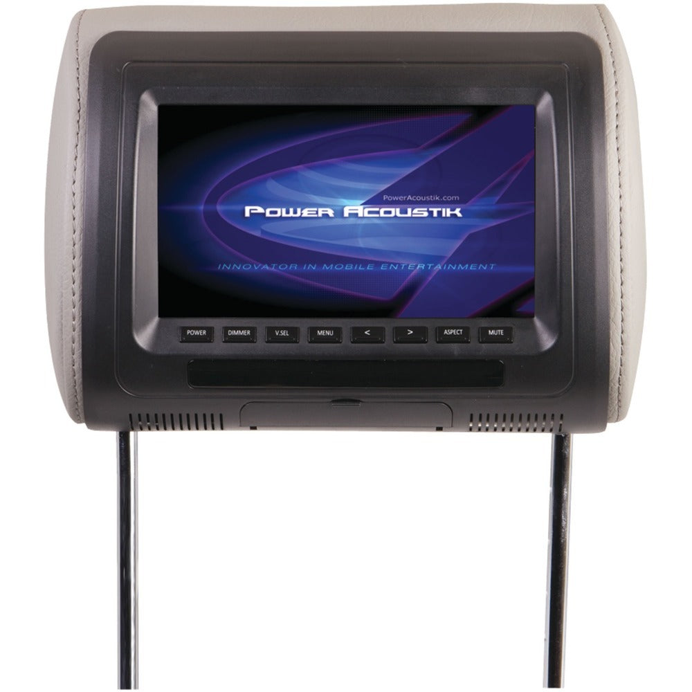 "Power Acoustik Universal Headrest Monitor With Ir Transmitter & 3 Interchangeable Skins (7"") POWH71CC"