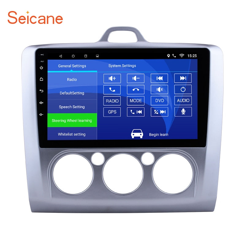 "Seicane Android 6.0/7.1 9"" Car Radio For Ford Focus 2 Exi MT 2004 2005 2006 2007 2008 2009- 2011 2Din GPS Multimedia Player"